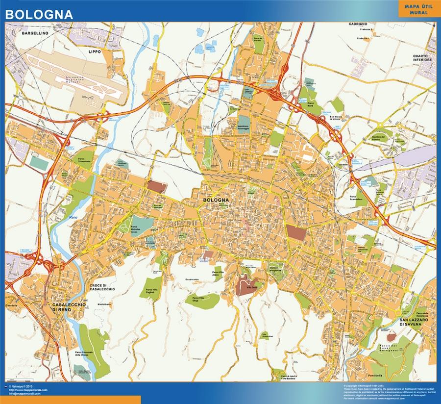Karta Over Bologna Stad I Italien Vaggkartor