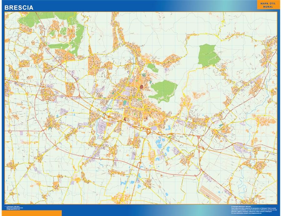 Karta Over Brescia Stad I Italien Vaggkartor