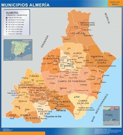 Kommuner Almeria Karta Fran Spanien Vaggkartor