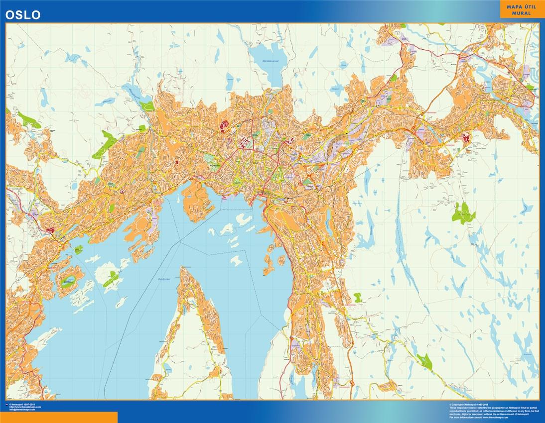 Oslo Karta I Norge Vaggkartor