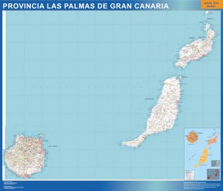 Provins Las Palmas Gran Canaria Karta Fran Spanien Vaggkartor