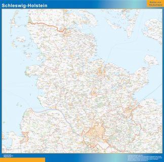 Schleswig Holstein Karta Vaggkartor Over Varlden Och Sverige